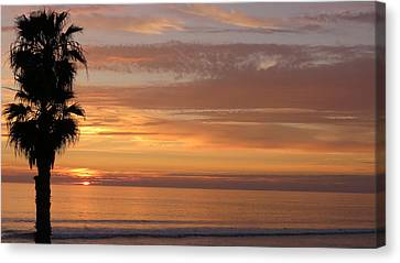 California Sunset Canvas Print by Charles Ables
