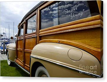 California Woodie Forever Young Canvas Print by Bob Christopher