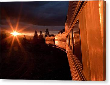 Mount Rushmore Canvas Print - California Zephyr Sunset by Ryan Wilkerson
