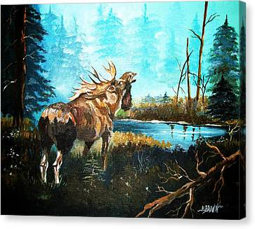Canvas Print featuring the painting Call In The Mist by Al Brown
