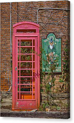 Call Me - Abandoned Phone Booth Canvas Print by Kay Pickens