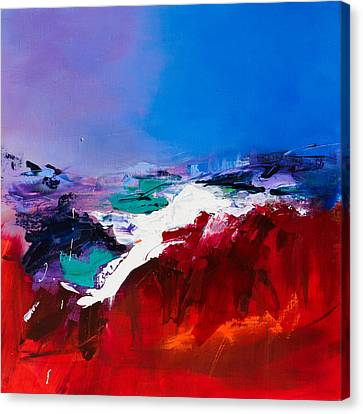 Red Skies Canvas Print - Call Of The Canyon by Elise Palmigiani