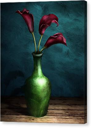 Calla Lilies I Canvas Print by April Moen