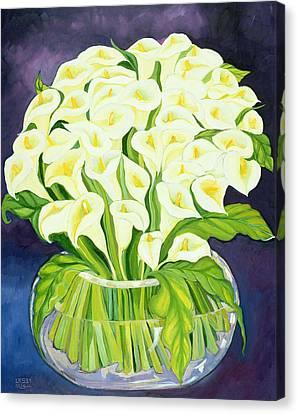 Calla Lilies Canvas Print by Laila Shawa
