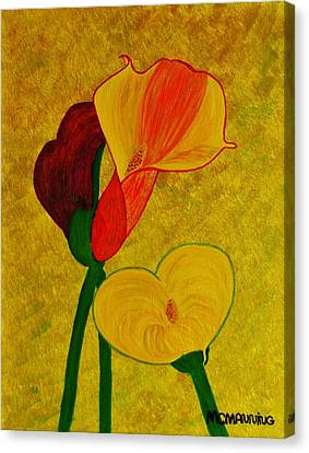 Calla Lilly Canvas Print by Celeste Manning
