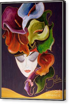 Calla Lily Dame.. Canvas Print