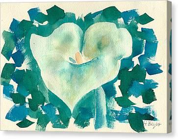 Calla Lily Watercolor Canvas Print by Frank Bright