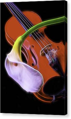 Calla Lily With Violin Canvas Print by Garry Gay
