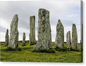 Callanish Standing Stones Canvas Print by Toby Adamson