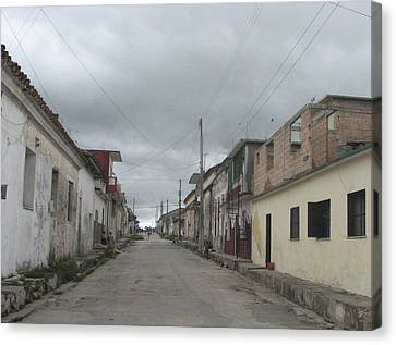 Canvas Print featuring the photograph Calle Cubana by Aurora Levins Morales
