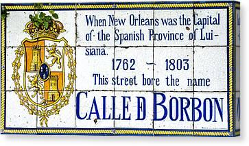 Calle D Borbon Canvas Print