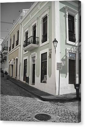 Calle De Luna Y Calle Del Cristo Canvas Print
