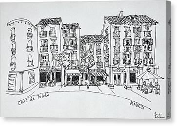 Calle De Toledo Shopping Street Canvas Print