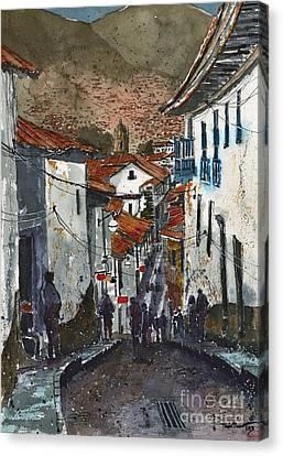 Calle Triunfo In Cusco Peru Canvas Print