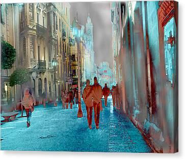 Calle Zamora De Salamanca Canvas Print