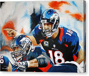 Peyton Manning Canvas Print by Don Medina