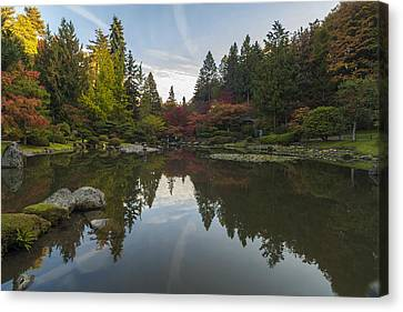 Calm Autumn Garden Canvas Print by Mike Reid