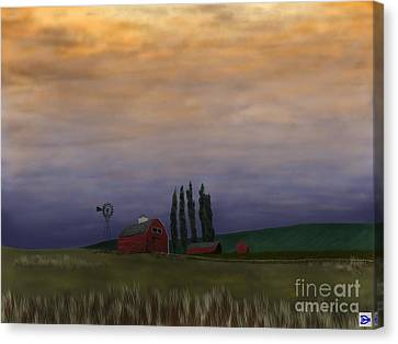 Calm Before The... Canvas Print by Andy Heavens