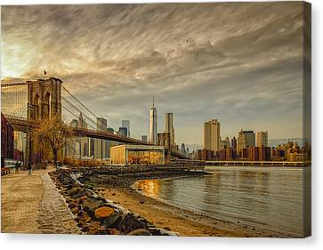Calm Before The Snow Canvas Print