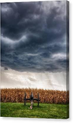 Calm Before The Storm 3 Canvas Print by Rhonda Negard