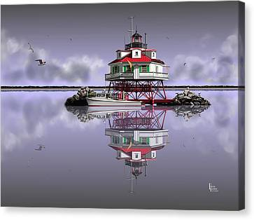 Calm Before The Storm Canvas Print by Patrick Belote