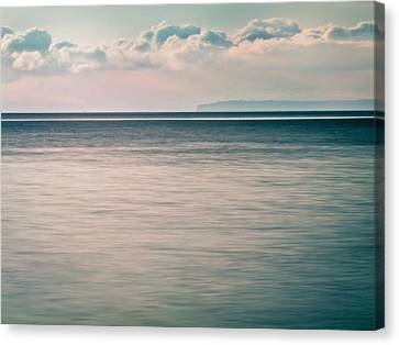 Calm Blue Ocean Canvas Print by Eva Kondzialkiewicz