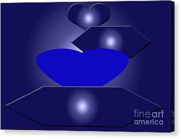 Digital Installation Art Canvas Print - Calm Blue Six by Tina M Wenger