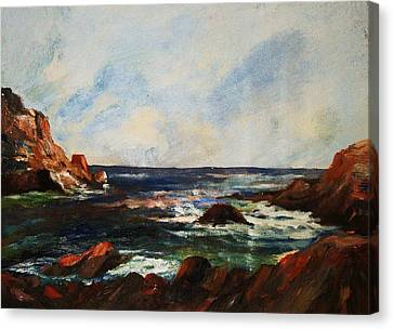 Canvas Print featuring the painting Calm Cove by Al Brown