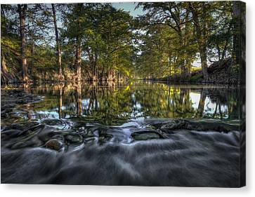Calm Disruption Canvas Print by Allen Biedrzycki