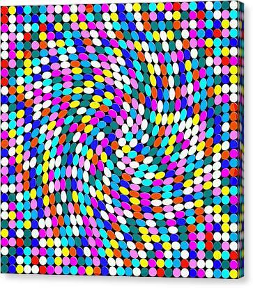 Calm Dots Canvas Print by George Curington