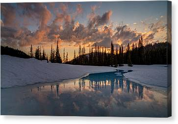 Thaw Canvas Print - Calm Evening Contemplation by Mike Reid