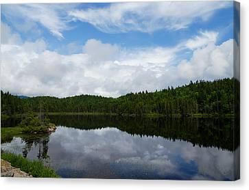 Turbulent Skies Canvas Print - Calm Lake - Turbulent Sky by Georgia Mizuleva