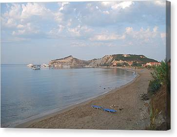 Canvas Print featuring the photograph Calm Sea by George Katechis