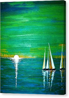 Calm Seas Canvas Print by Kyle  Brock