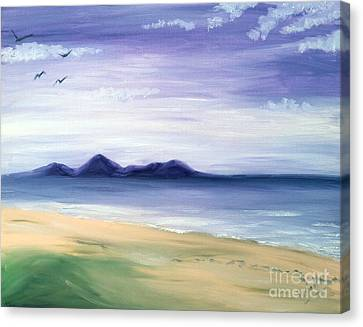 Calm Seashore Canvas Print
