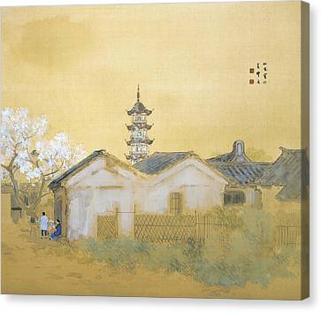Calm Spring In Jiangnan Canvas Print by Takeuchi Seiho