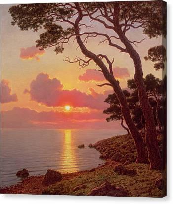 Calme De Soir, Cote Dazur Canvas Print by Ivan Fedorovich Choultse