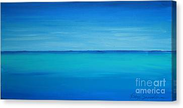 Calming Turquise Sea Part 1 Of 2 Canvas Print