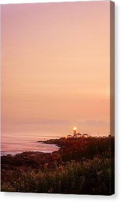 Calming Visual- Beavertail Lighthouse Art Canvas Print
