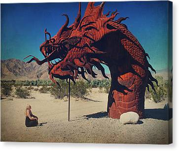 Calmly Facing Down My Demon Canvas Print by Laurie Search