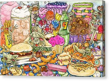 Calorie Gremlins Canvas Print