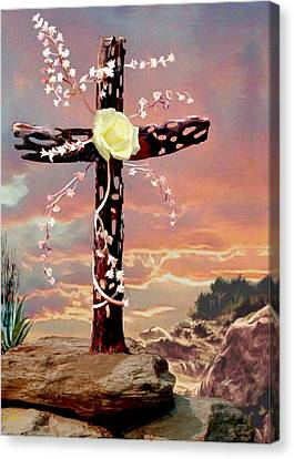 Calvary Cross Canvas Print