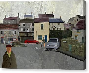 Calver Village Canvas Print by Kenneth North