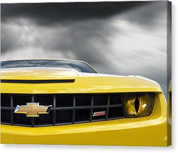 Horror Car Canvas Print - Camaro Ss Evil Eye by Gill Billington