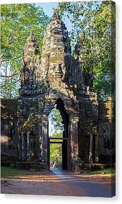 Angkor Thom Canvas Print - Cambodia North Gate, Angkor Thom by Charles O. Cecil