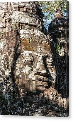Angkor Thom Canvas Print - Cambodia North Gate, Angkor Thom Some by Charles O. Cecil