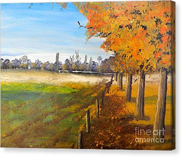 Canvas Print featuring the painting Camden Farm by Pamela  Meredith