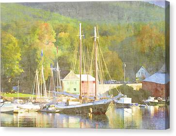 Camden Harbor Maine Canvas Print by Carol Leigh