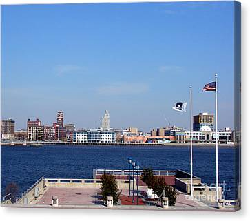 Camden Waterfront Canvas Print by Olivier Le Queinec