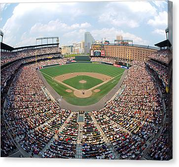 Camden Yards Baltimore Md Canvas Print by Panoramic Images